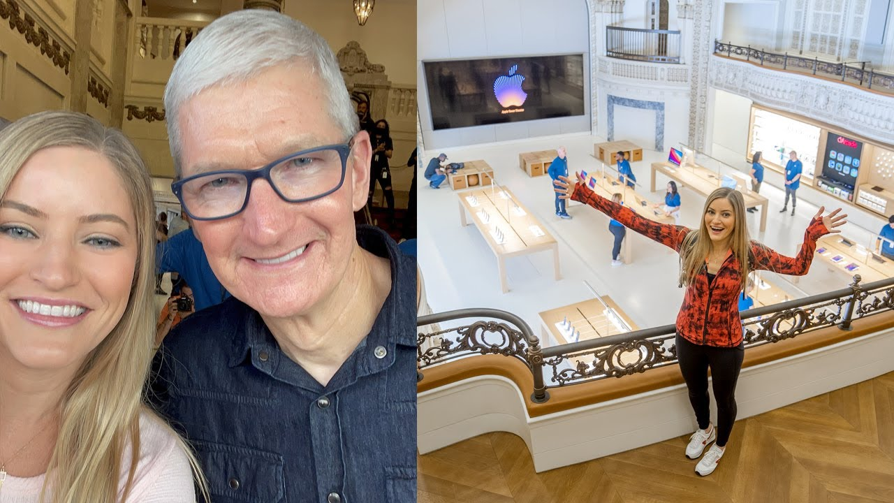 Grand Opening Apple Store Tower Theater with Tim Cook Los Angeles, CA